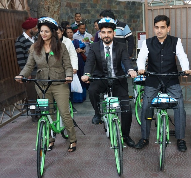 Mobycy Flags off India's First-Ever Dockless Bicycles in