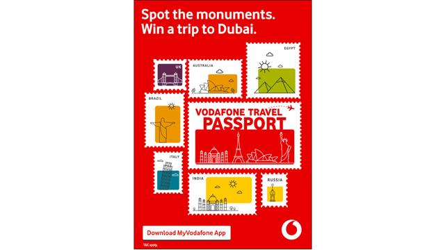 Month-long Gaming Contest 'The Vodafone Travel Passport' on