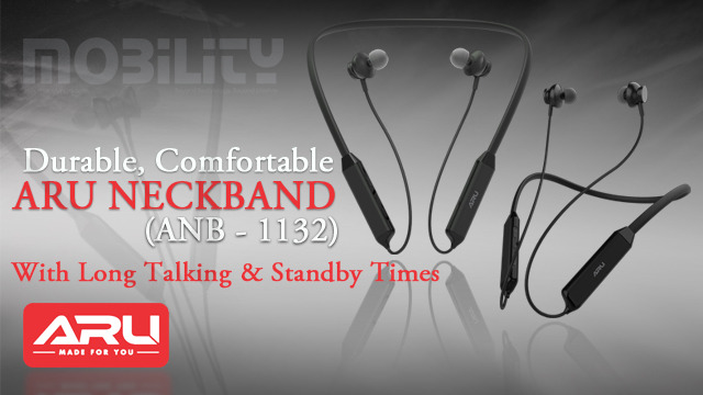ARU Neckband (ANB - 1132) with Long Talking & Standby Times