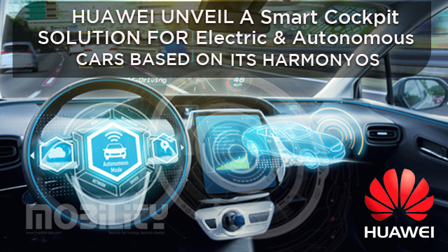 Huawei unveils a smart cockpit solution for electric and autonomous cars based on its HarmonyOS