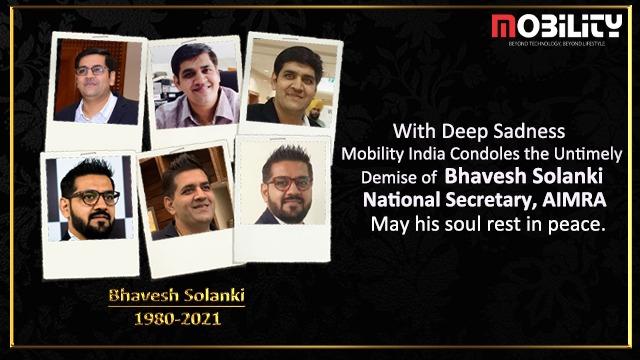 Mobility India magazine condole the death of Mr Bhavesh Solanki