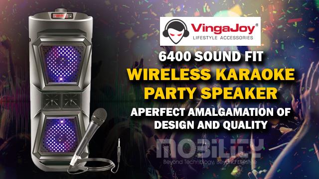 VingaJoy SP - 6400 SOUND FIT Wireless Karaoke Party Speaker