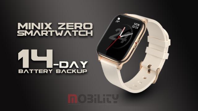 Minix Zero Smartwatch with 14-Day Battery Backup