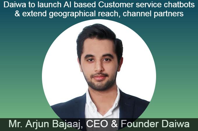 Mr. Arjun Bajaaj, CEO & Founder Daiwa
